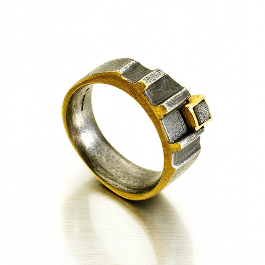 Ridged Rough Cut ring