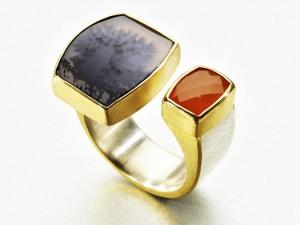 Dendrid Quartz, Carnelian Ring