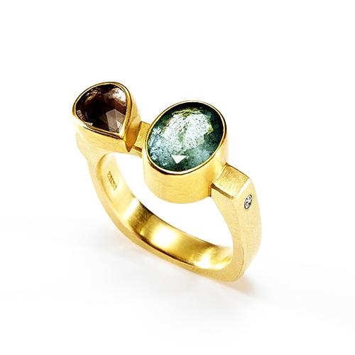 Emerald, Diamond Ring